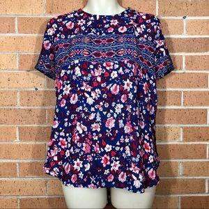 Ann Taylor Loft size Small Floral Blouse Top